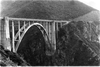 Highway 1 Bridge B&W